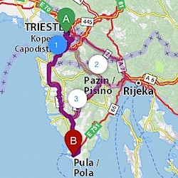 From Italy to Istria without Slovenian toll sticker